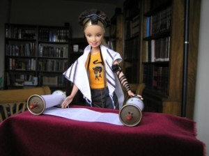 Barbie reads Torah